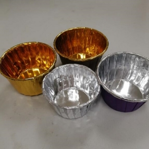 Disposable aluminum foil cup
